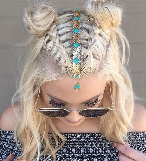 6 Braided Top Knots To Give You Hair Envy In Current Braided Hairstyles On Top Of Head (View 9 of 15)
