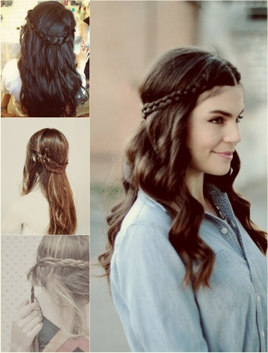 6 Chic Braided Crown Hairstyles For Girls'daily Creation At Home Inside Recent Braided Hairstyles With Crown (View 4 of 15)