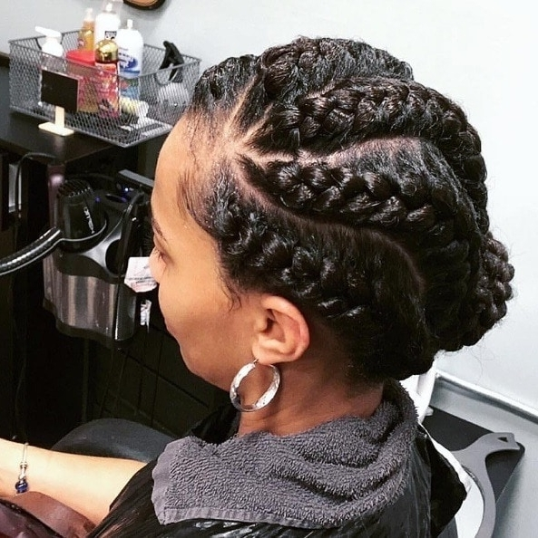 6 Glorious Goddess Braids Hairstyles To Inspire Your Next Look In Most Current Braided Hairstyles Up In A Ponytail (View 6 of 15)