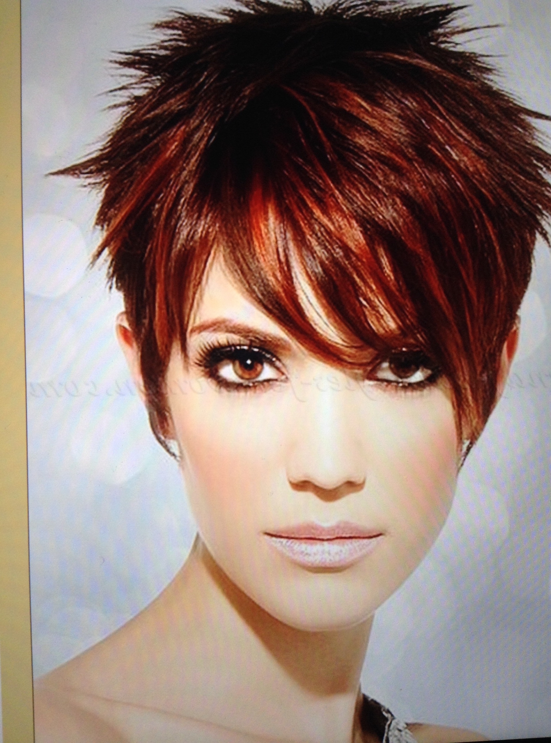 60 Awesome Pixie Haircut For Thick Hair 50 – Nona Gaya In Most Up To Date Long Red Pixie Haircuts (View 9 of 15)