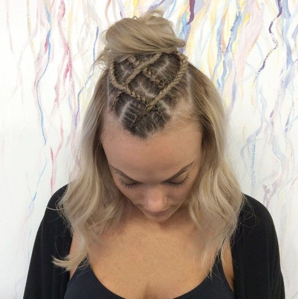 60 Boxer Braid Hairstyles For Your Sporty Side | Hair Styles Within Most Up To Date Mohawk With Criss Crossed Braids (View 15 of 15)