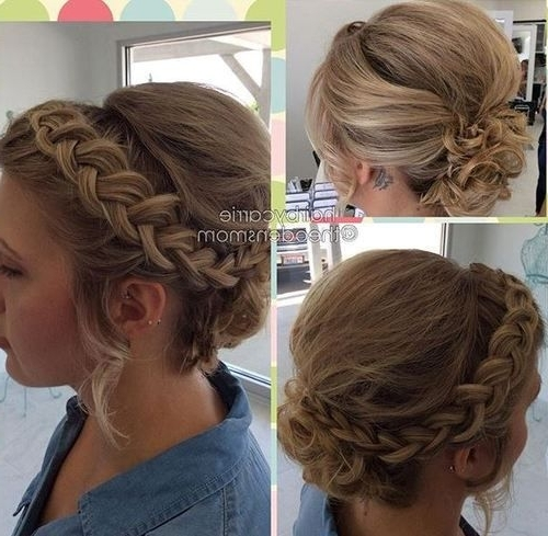 60 Updos For Short Hair – Your Creative Short Hair Inspiration Pertaining To 2018 Braided Updo Hairstyle With Curls For Short Hair (View 2 of 15)