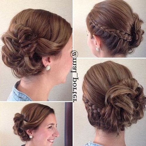 60 Updos For Short Hair – Your Creative Short Hair Inspiration Pertaining To Newest Braided Updo Hairstyle With Curls For Short Hair (View 4 of 15)