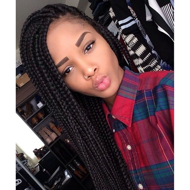 65 Box Braids Hairstyles For Black Women Intended For Most Up To Date Box Braids Hairstyles (View 7 of 15)