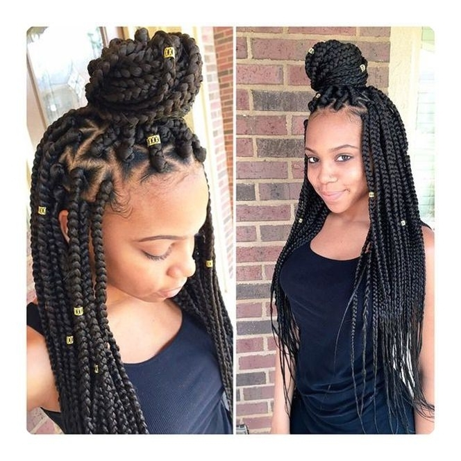65 Cool Triangle Box Braids That Are So Convenient In Most Popular Triangle Box Braids Hairstyles (View 3 of 15)