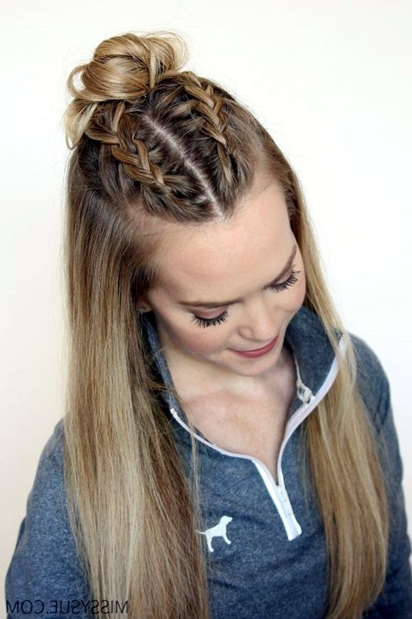 65 Quick And Easy Back To School Hairstyles For 2017   Fashion Regarding Most Recent Braided Hairstyles To The Back (View 14 of 15)