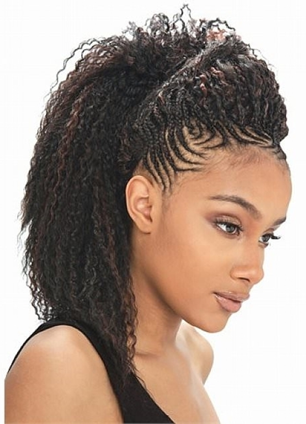 66 Of The Best Looking Black Braided Hairstyles For 2018 Inside Latest Braided Updos African American Hairstyles (View 10 of 15)