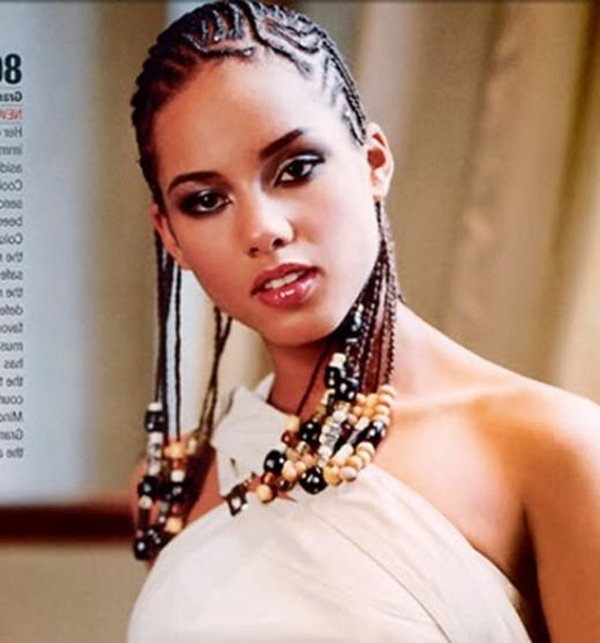 66 Of The Best Looking Black Braided Hairstyles For 2018 Intended For Most Recent Thin Cornrows Hairstyles (View 15 of 15)