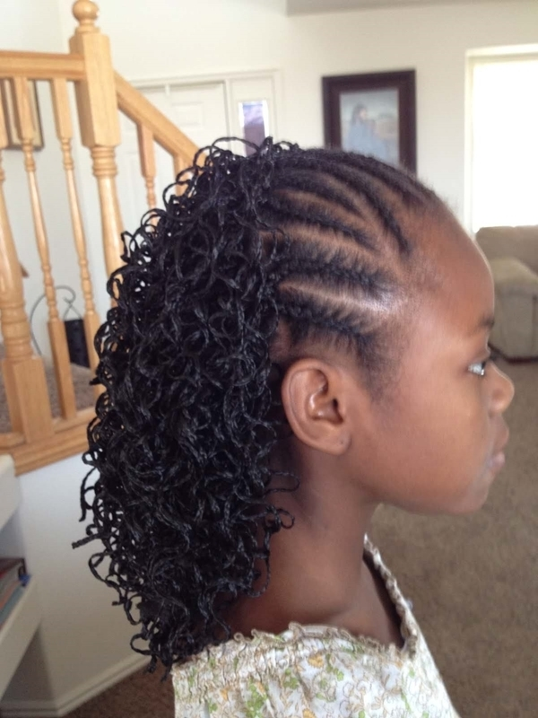 68 Inspiring Black Braid Hairstyles For Black Women – Style Easily Intended For Most Recently Asymmetrical Braids With Curly Pony (View 8 of 15)
