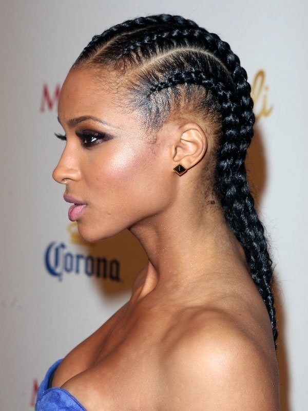 68 Inspiring Black Braid Hairstyles For Black Women – Style Easily With Regard To Most Popular Medium Cornrows Hairstyles (View 10 of 15)