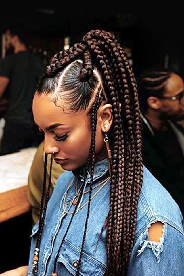 7+ Awesome African American Braided Hairstyles | Hair | Pinterest Throughout Latest Classic Fulani Braids With Massive Ivory Beads (Gallery 1 of 15)