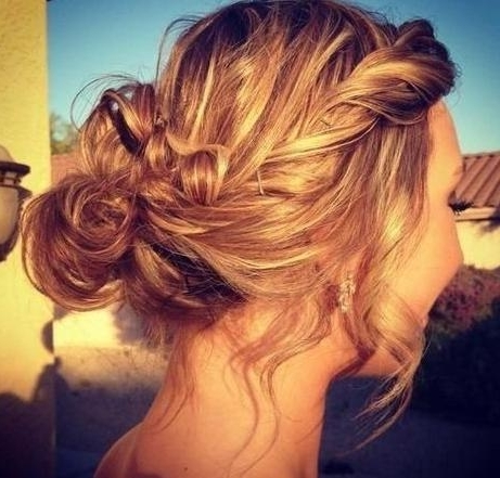 7 Cute & Simple Hairstyle Ideas | Hairstyle Mag Pertaining To Newest Messy Bun Braided Hairstyles (View 12 of 15)