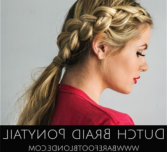 7 Diy Braided Ponytail Hairstyles Regarding Most Popular Two Braids Into One Braided Ponytail (View 14 of 15)