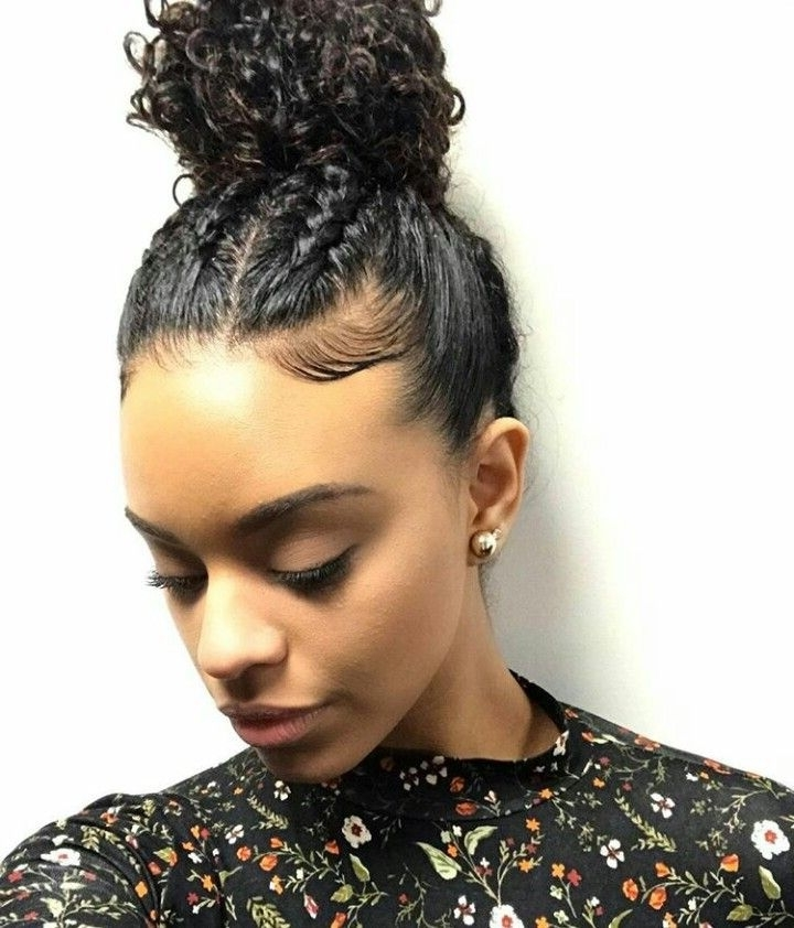 Featured Photo of Mixed Braid Updo For Black Hair