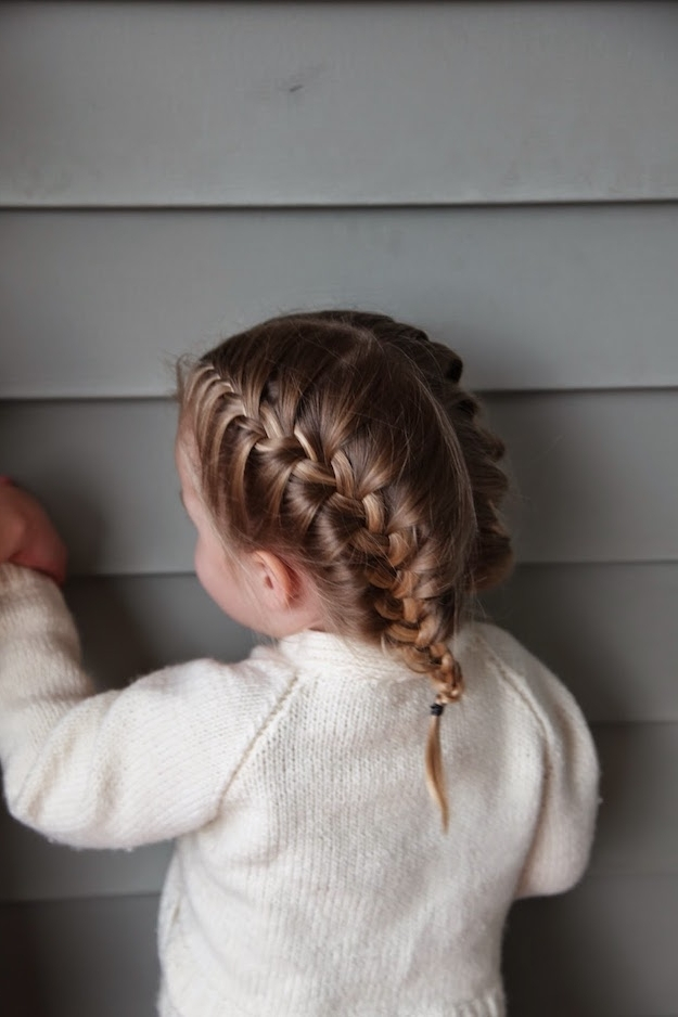 7 Prettiest Braided Hairstyles For Flower Girls | Wedding Checklists With Regard To Most Current Two French Braid Hairstyles With Flower (View 10 of 15)