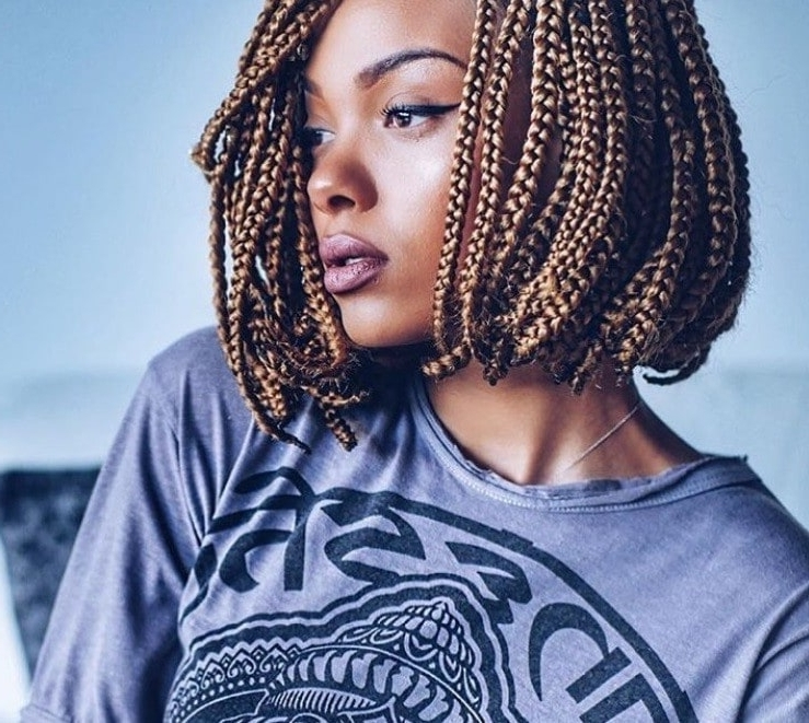 7 Reasons You Should Rock An On Trend Box Braids Bob Style This Season Regarding Best And Newest Cornrows Bob Hairstyles (View 5 of 15)