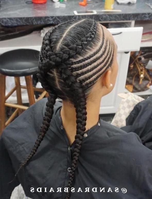 70 Best Black Braided Hairstyles That Turn Heads   Black Braids Regarding Newest Criss Crossed Braids With Feed In Cornrows (View 3 of 15)