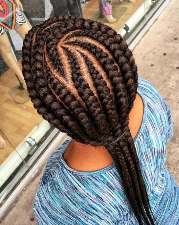 70 Best Black Braided Hairstyles That Turn Heads   Black Braids With Regard To Most Recent Long Curvy Braids Hairstyles (View 4 of 15)