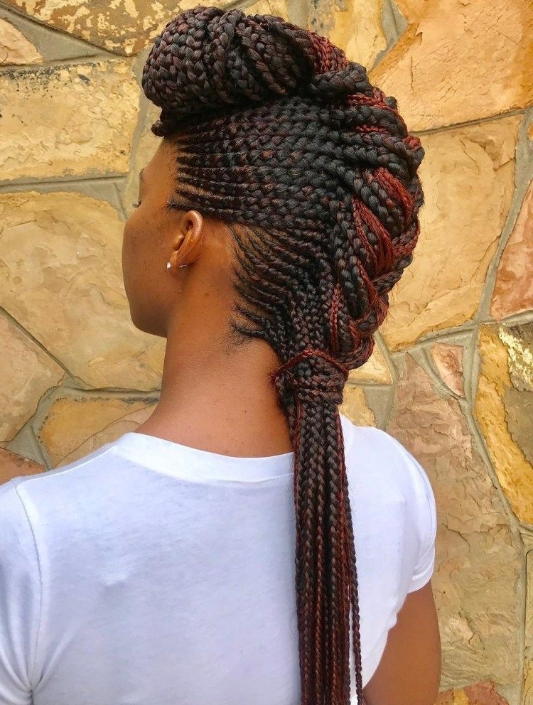 70 Best Black Braided Hairstyles That Turn Heads | Pinterest Inside Most Current Chunky Mohawk Braid With Cornrows (View 3 of 15)