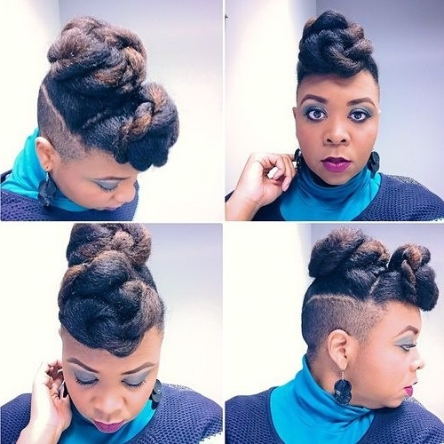 70 Best Black Braided Hairstyles That Turn Heads | Pinterest Pertaining To Best And Newest Double Bun Mohawk With Undercuts (View 2 of 15)