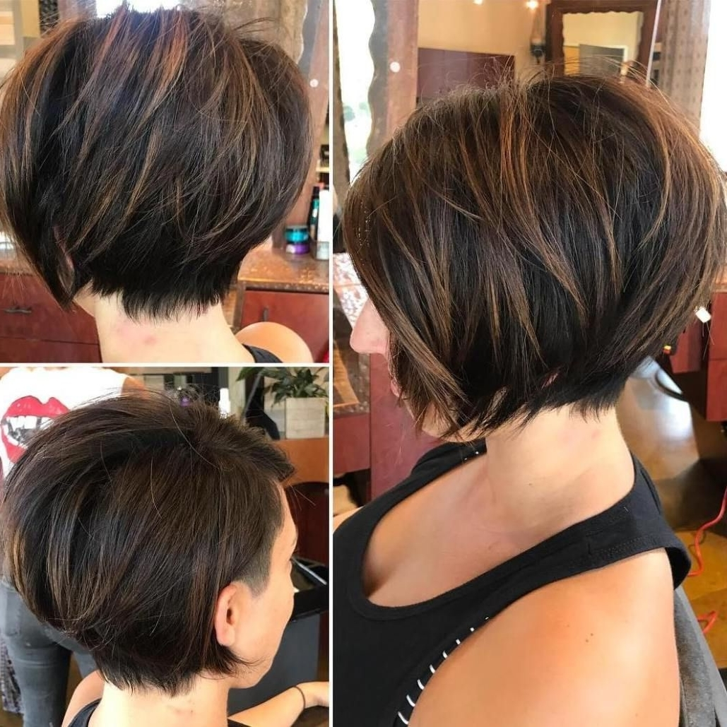70 Cute And Easy To Style Short Layered Hairstyles | Brown Balayage Intended For Most Popular Balayage Pixie Haircuts With Tiered Layers (View 8 of 15)