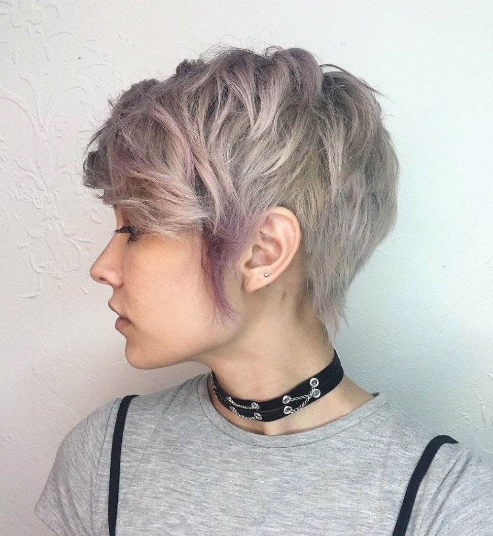 70 Cute And Easy To Style Short Layered Hairstyles | Glam Sqaud Within Best And Newest Ashy Blonde Pixie Haircuts With A Messy Touch (Gallery 3 of 15)