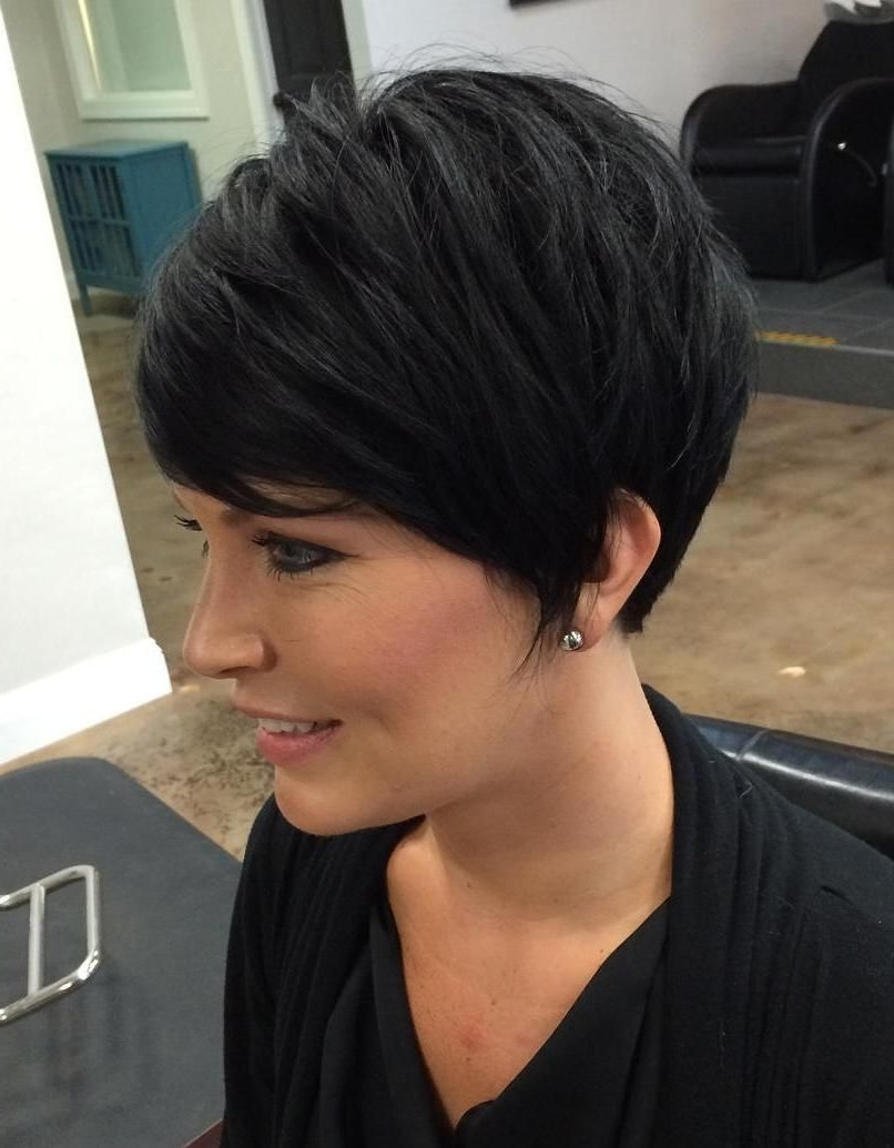70 Cute And Easy To Style Short Layered Hairstyles   Hair And Nails Throughout Most Recent Choppy Asymmetrical Black Pixie Haircuts (Gallery 5 of 15)