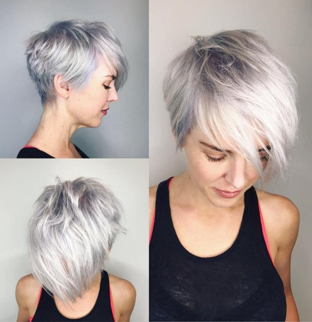 70 Cute And Easy To Style Short Layered Hairstyles | Pinterest Throughout Latest Choppy Gray Pixie Haircuts (Gallery 3 of 15)