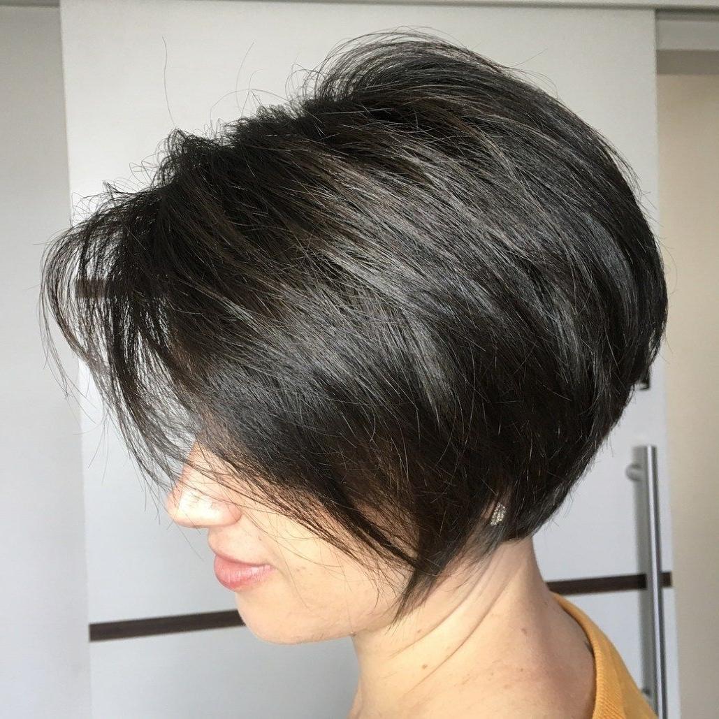 70 Cute And Easy To Style Short Layered Hairstyles | Pixie Bob Intended For Most Recent Angled Pixie Bob Haircuts With Layers (Gallery 2 of 15)