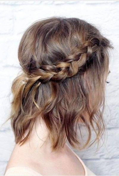 70+ Cute French Braid Hairstyles When You Want To Try Something New Intended For Most Recently Braided Hairstyles On Short Hair (View 13 of 15)