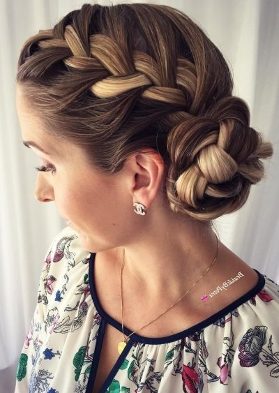 70+ Cute French Braid Hairstyles When You Want To Try Something New With Current Chunky Two French Braid Hairstyles With Bun (Gallery 7 of 15)
