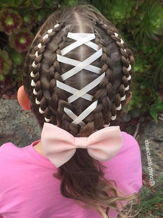 70 Fantastic Little Girl Hairstyles – Ashstyles Intended For Current Braided Ribbon Hairstyles (View 15 of 15)