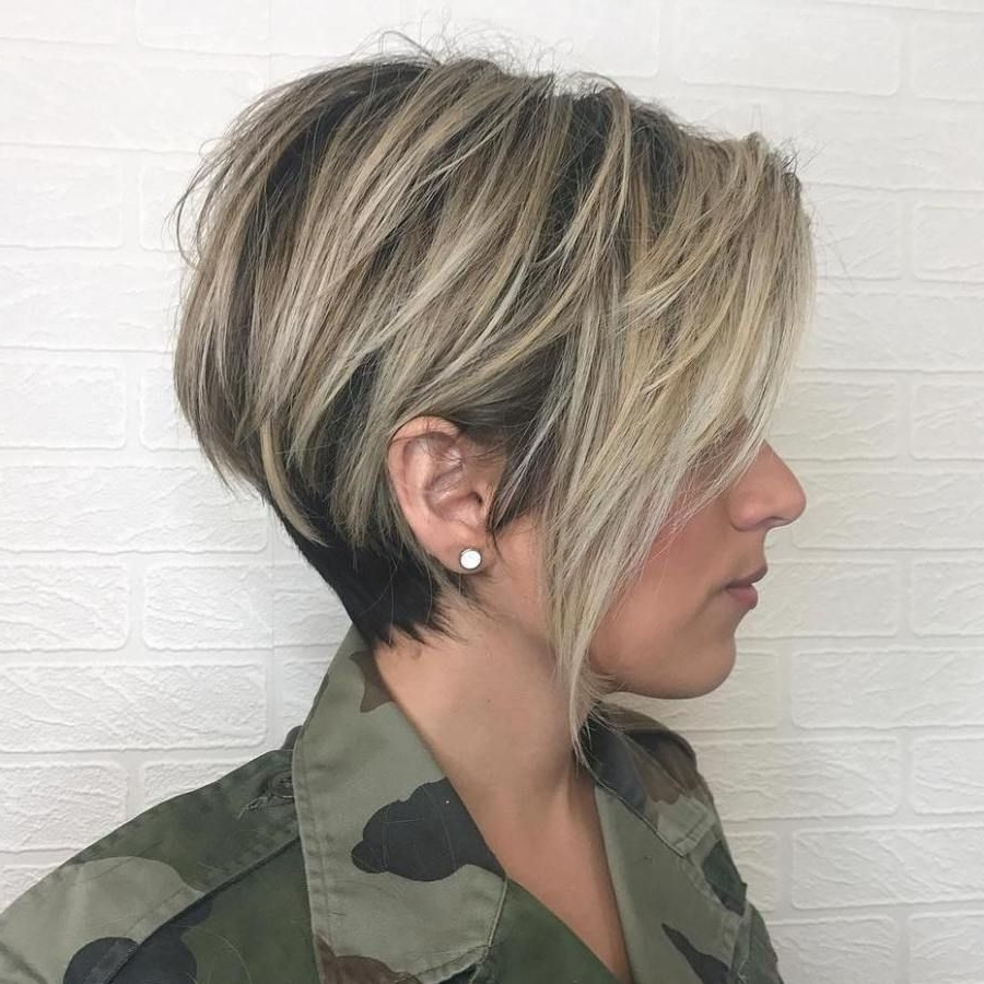 Photo Gallery Of Balayage Pixie Haircuts With Tiered Layers Showing