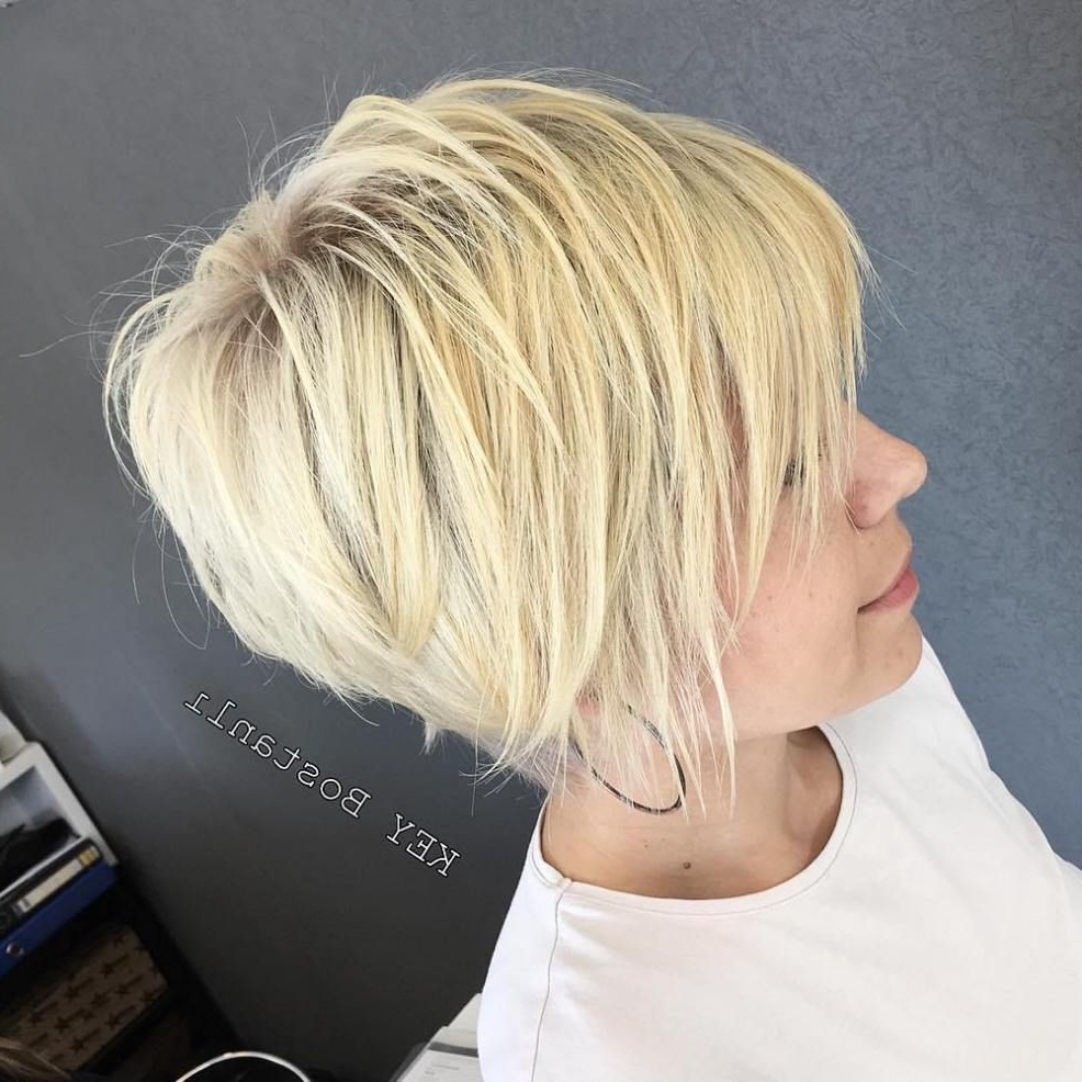 70 Short Shaggy, Spiky, Edgy Pixie Cuts And Hairstyles | Buttery Intended For Most Recent Finely Chopped Buttery Blonde Pixie Haircuts (Gallery 1 of 15)