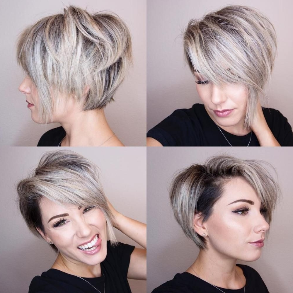 70 Short Shaggy, Spiky, Edgy Pixie Cuts And Hairstyles | Fave Regarding Most Recent Disconnected Blonde Balayage Pixie Haircuts (Gallery 11 of 15)