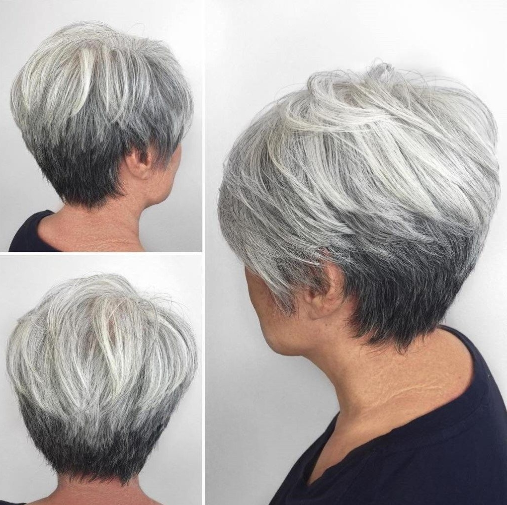 70 Short Shaggy, Spiky, Edgy Pixie Cuts And Hairstyles | Gray Ombre With Regard To Most Popular Reverse Gray Ombre For Short Hair (Gallery 1 of 15)