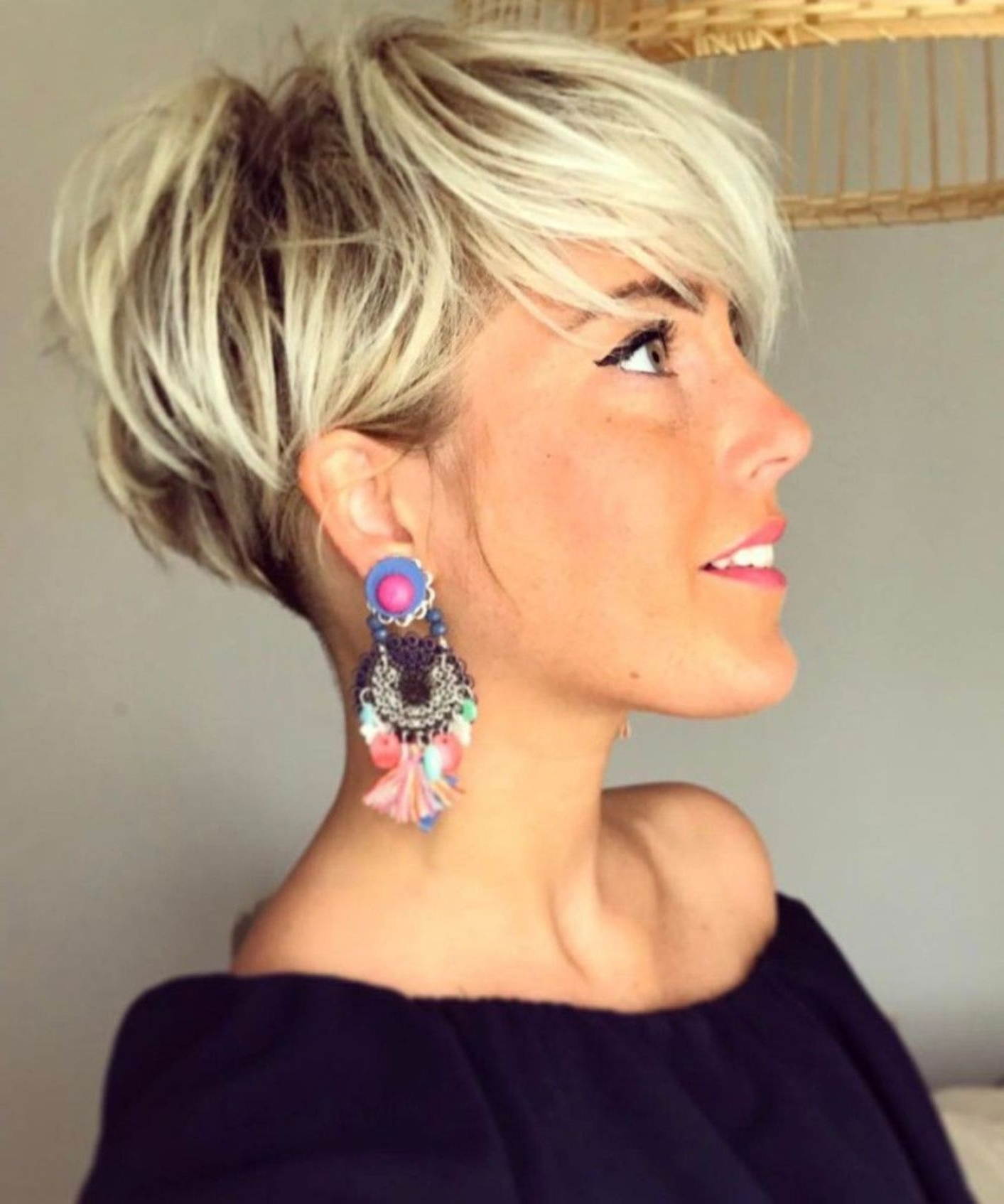 70 Short Shaggy, Spiky, Edgy Pixie Cuts And Hairstyles | Pinterest Inside Recent Undercut Blonde Pixie With Dark Roots (Gallery 1 of 15)