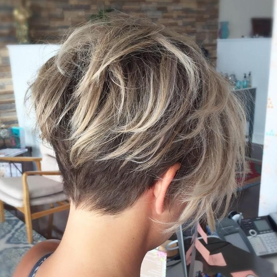70 Short Shaggy, Spiky, Edgy Pixie Cuts And Hairstyles | Shaggy In Most Popular Disconnected Blonde Balayage Pixie Haircuts (Gallery 13 of 15)
