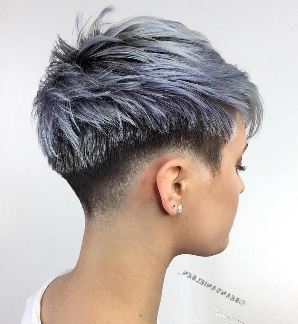 70 Short Shaggy, Spiky, Edgy Pixie Cuts And Hairstyles | Short Cuts Within Most Recent Choppy Pixie Fade Haircuts (Gallery 1 of 15)