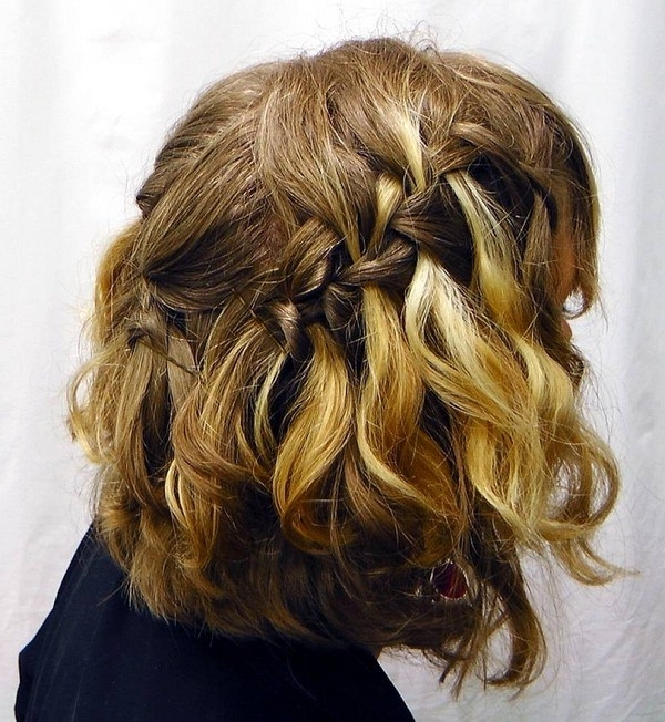 73 Stunning Braids For Short Hair That You Will Love For Most Recent Braided Updo Hairstyle With Curls For Short Hair (View 8 of 15)