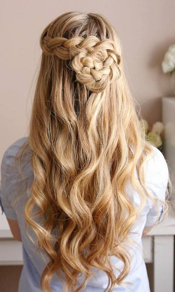 75 Trendy Long Wedding & Prom Hairstyles To Try In 2018   Prom Regarding Most Popular Braided Hairstyles For Homecoming (View 5 of 15)
