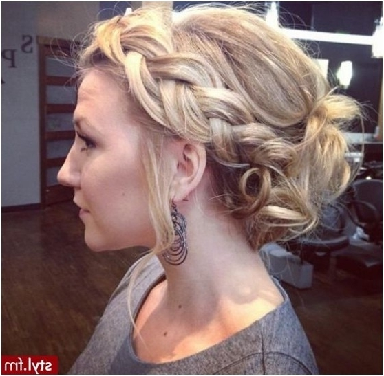 8 Chic Braided Updos: Updo Hairstyles Ideas – Popular Haircuts Throughout Best And Newest Braided Updo With Curls (Gallery 9 of 15)