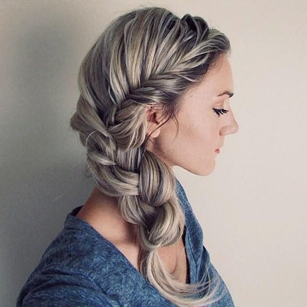 8 Romantic French Braided Hairstyles For Long Hair, You Cannot Miss In Latest Braided Hairstyles To The Side (Gallery 7 of 15)