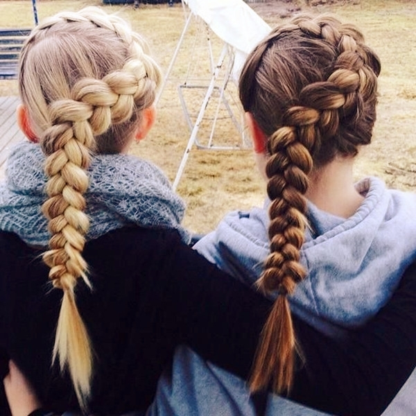8 Romantic French Braided Hairstyles For Long Hair, You Cannot Miss Regarding 2018 Braided Hairstyles For School (Gallery 10 of 15)