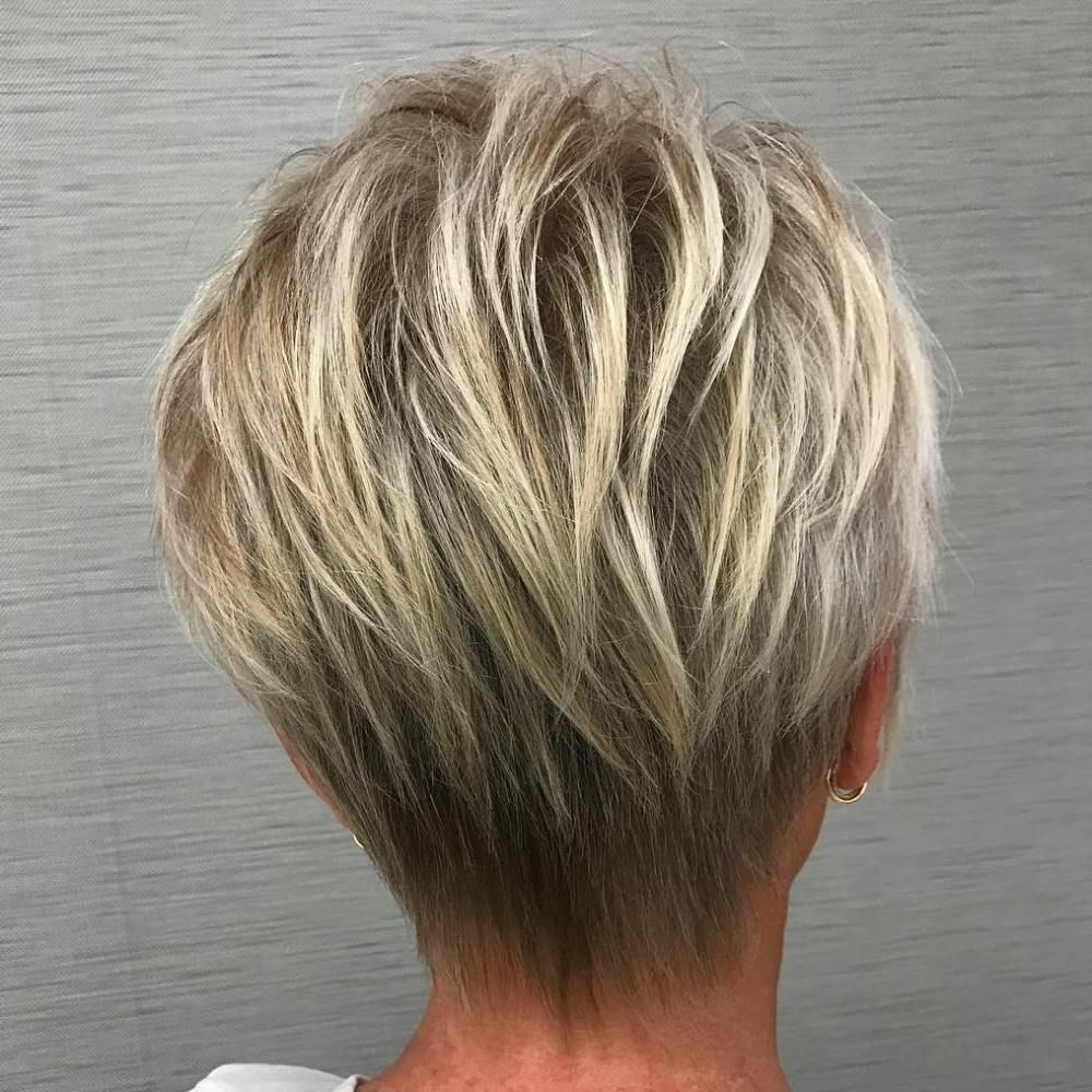 80 Best Modern Haircuts And Hairstyles For Women Over 50 | Blonde For Best And Newest Balayage Pixie Haircuts With Tiered Layers (View 2 of 15)