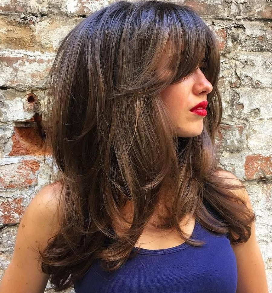 80 Cute Layered Hairstyles And Cuts For Long Hair | Love Beauty Inside Most Recent Cropped Tousled Waves And Side Bangs (Gallery 7 of 15)