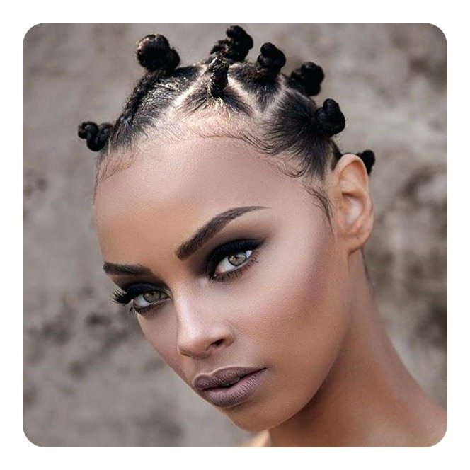 81 Cool Bantu Knots Hairstyles And Tutorial – Style Easily With Newest Exotic Twisted Knot Hairstyles (View 9 of 15)