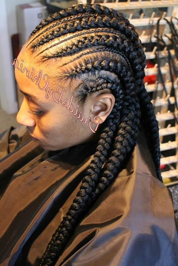 82 Feed In Braids Hairstyle To Rock This Year Intended For Recent Criss Crossed Braids With Feed In Cornrows (View 10 of 15)