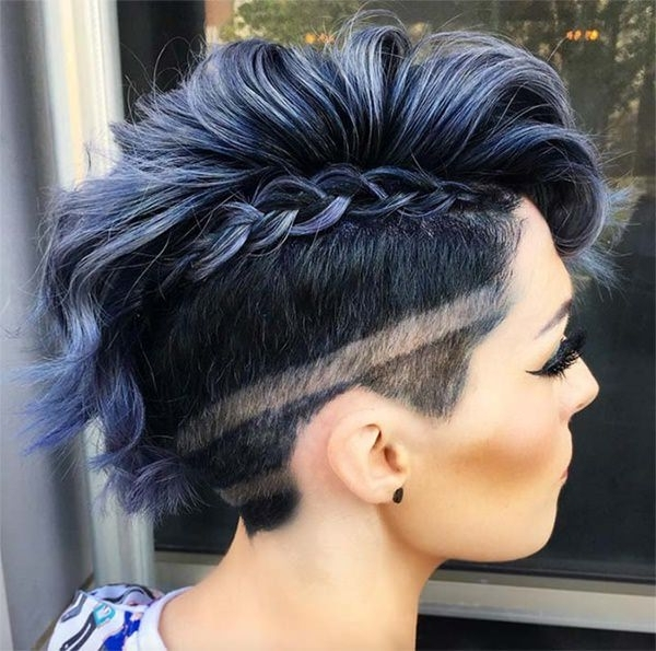 83 Awesome Women's Undercut Styles That Will Blow You Away With Most Recently Double Bun Mohawk With Undercuts (Gallery 3 of 15)