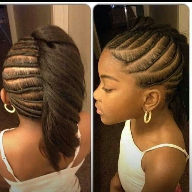 86 Best Cornrow Images On Pinterest Cute Hairstyles For Little Black Regarding Newest Cornrow Hairstyles For Graduation (View 5 of 15)